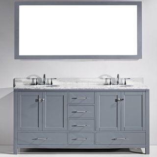 Shop For Virtu Usa Caroline Avenue 72Inch Double Bathroom Vanity Simple 72 Inch Bathroom Vanity Double Sink Decorating Inspiration