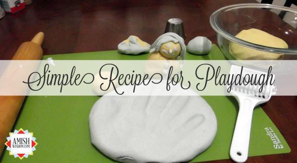 Simple Recipe for Playdough Amish Wisdom Playdough