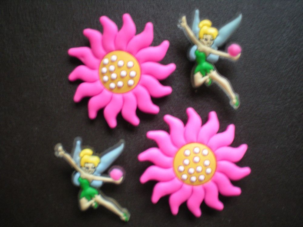s TINKERBELL FLOWER SHOE CLOG CHARM 4 FIT AN BRACELETS WITH HOLES