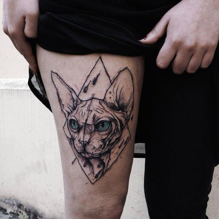 15+ Tatouage yeux de chat ideas