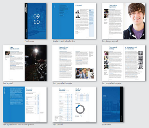 annual report layout design selo l ink co