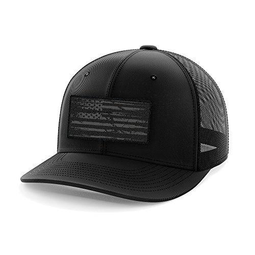 30d0f201db4341 Chic Phantom Black American Flag Flexfit Hat. [$24.95] topbrandsclothing  from top store