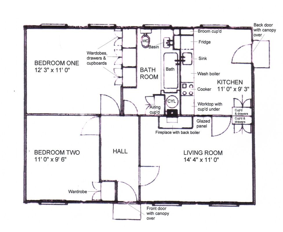 The Plan Of Our Prefab The Front Bedroom Was Mine It