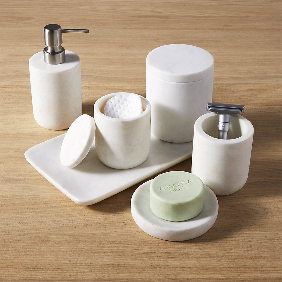 Marble Bath Accessories   CB2