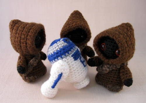 Crocheted Jawas and R2D2 | Crochet | Pinterest | Star Wars Häkeln ...