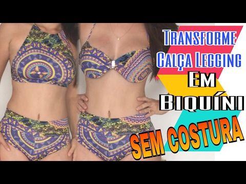 4f9638724 Biquíni com Legging - DIY Hot Pants SEM COSTURA - YouTube