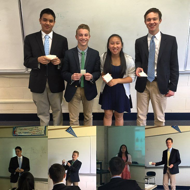 "Something we liked from Instagram! #Math teacher Maeve Carroll's Honors Geometry class recently completed ""Real World Projects"" during which students chose a topic related it to geometry in a paper and used our #3Dprinter to print their object. Topics included honeycombs Tangrams Colosseum and Mayan Architecture the Golden Ratio! #handsonlearning by canterbury1915 check us out: http://bit.ly/1KyLetq"