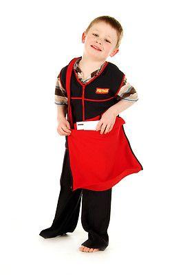 Childrens Kids Boys Girls Postman Postal Worker Fancy Dress