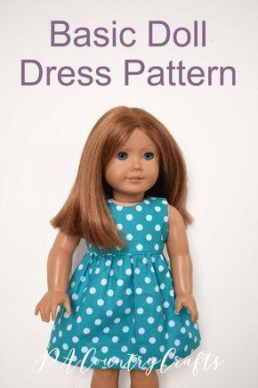Basic Doll Dress Pattern #dollclothes