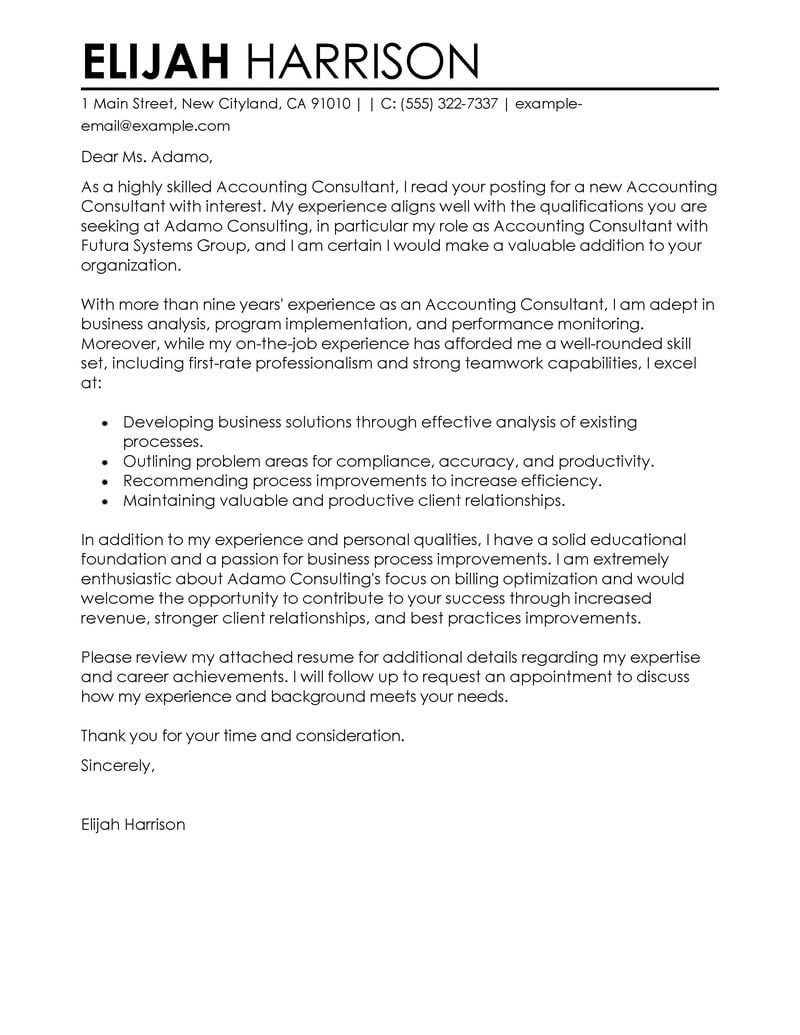 25 Consulting Cover Letter Job Cover Letter Cover Letter Example Career Change Cover Letter