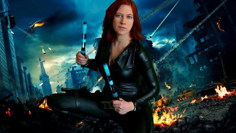Black Widow costume  #cosplay #blackwidow #photoshop #greenscreen #halloweenideas
