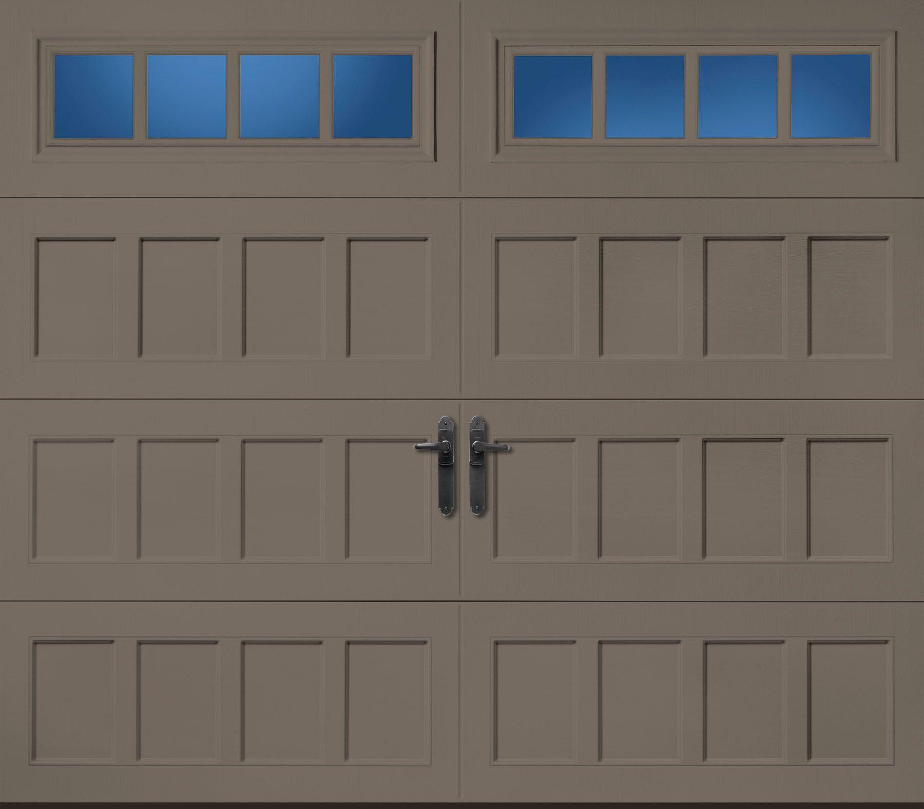 Garage door windows that open  Amarr Oak Summit Recessed Door with Thames windows  Exteriors