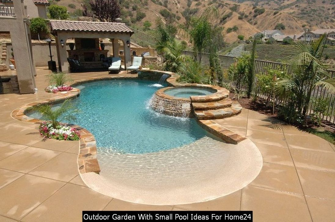 24 Outdoor Garden With Small Pool Ideas For Home Beach Entry Pool Backyard Beach Small Pool Design