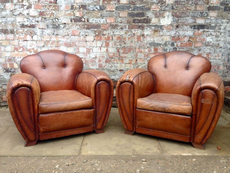 Original vintage 1930s Deco style armchairs.Fantastic ...