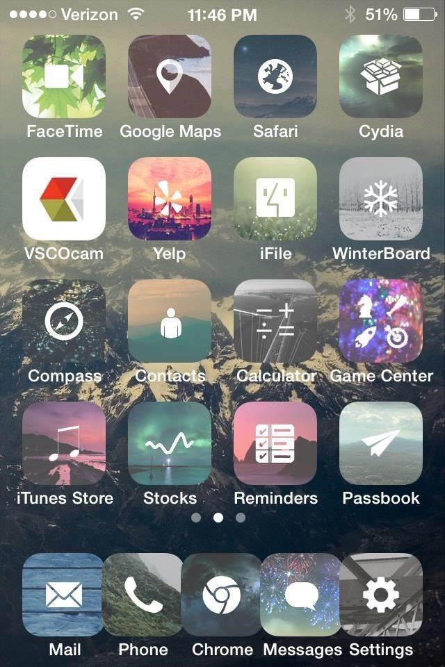 pretty winterboard themes Google Search Iphone