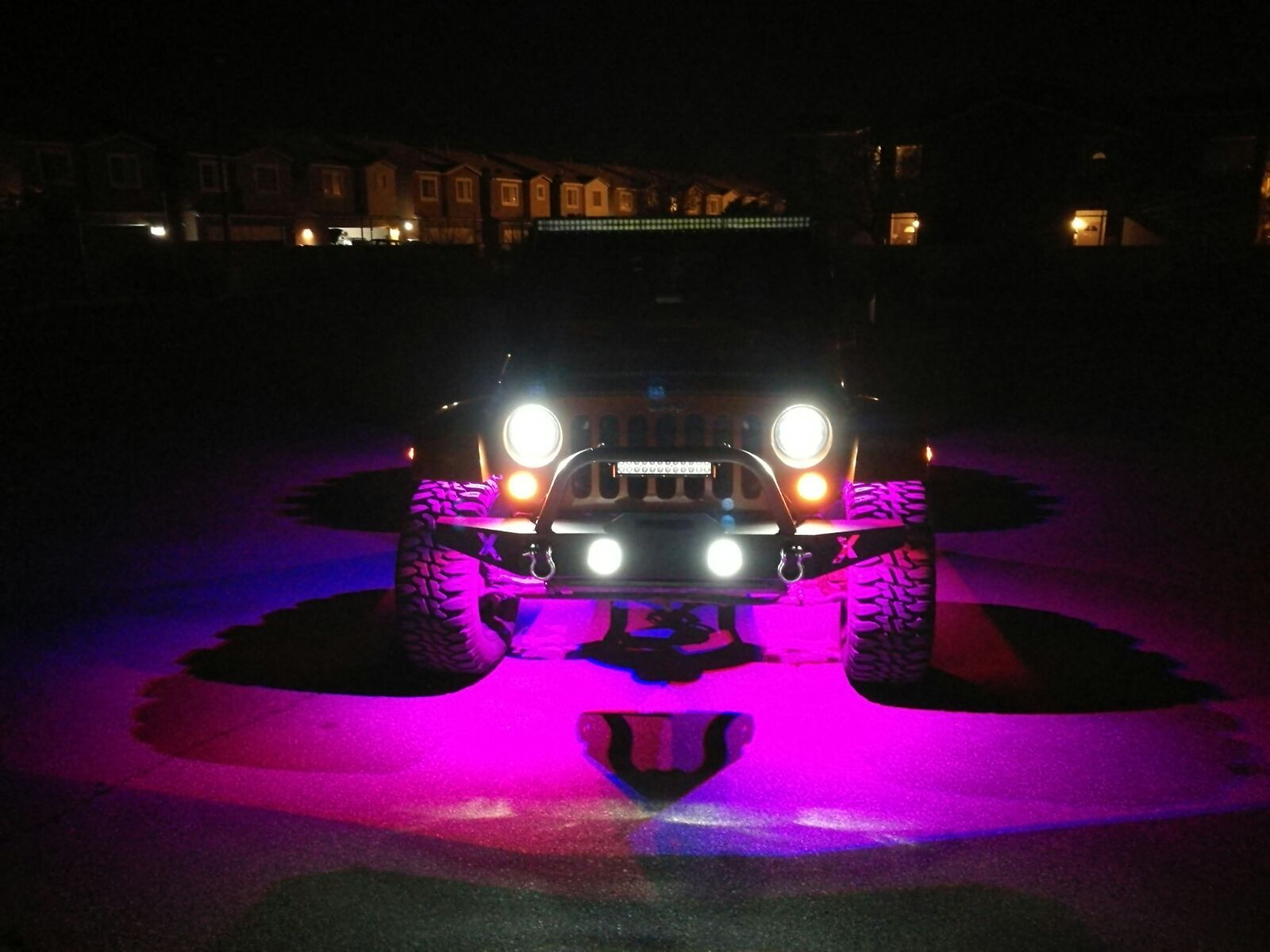 Led Rock Lights Color Changing For Jk Jeep Wrangler Headlights