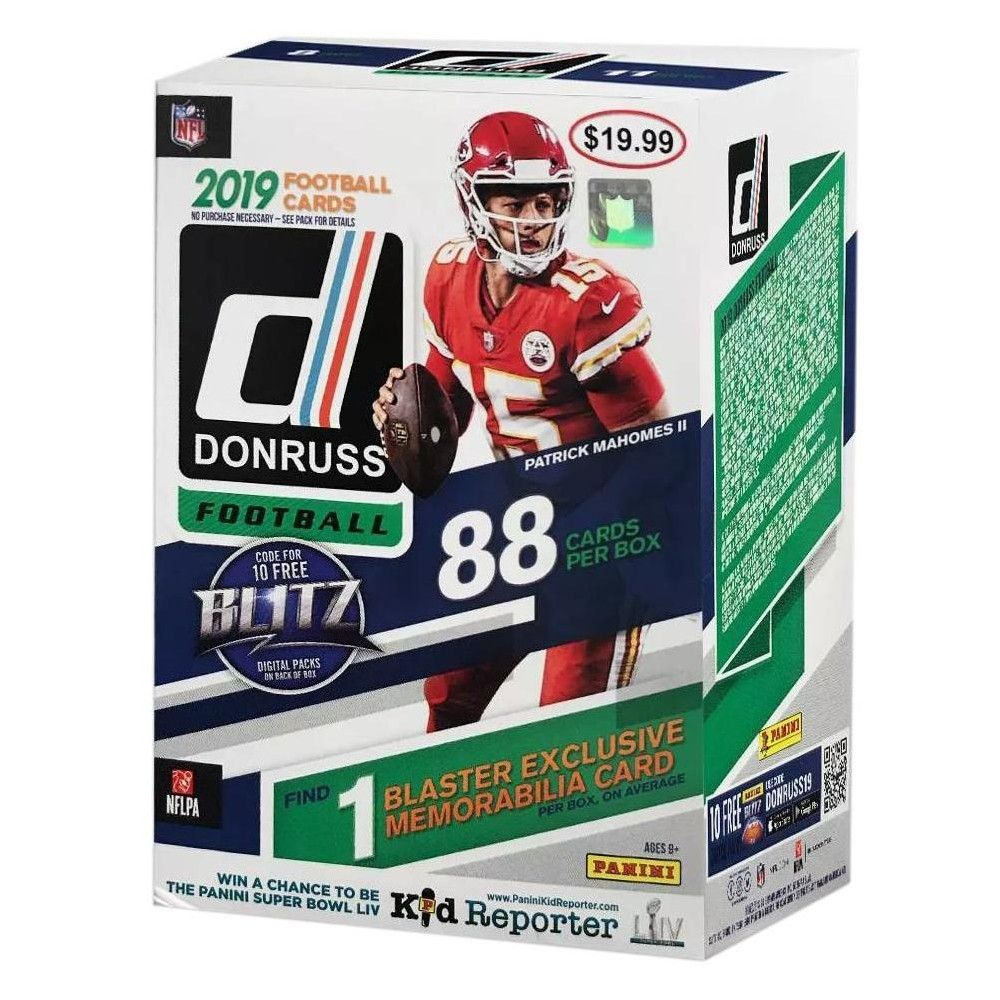 NFL 2019 Donruss Football Trading Card BLASTER Box [11
