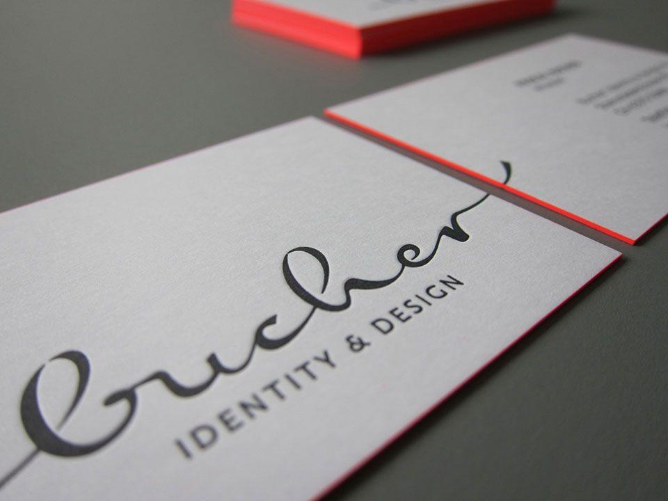 Exklusive Visitenkarten Farbschnitt Printing Tech