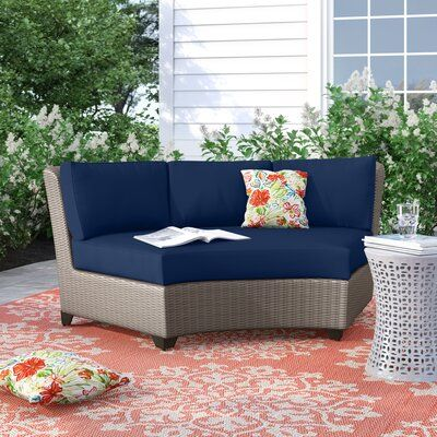 Sol 72 Outdoor Kenwick Patio Chair With Cushions Cushion Colour