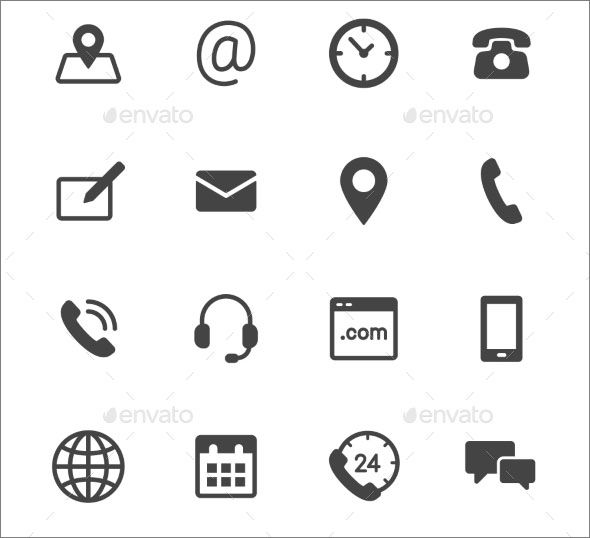 Contact Icons Contact Icon Vector Contact Icons Png Contact Icons For Business Cards Contact Icon Blue Co Business Card Icons Resume Icons Vector Business Card