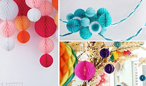 Honeycomb Decorations Paper Balls Amazon Lifeglow Crafts™ 40Pcs Honeycomb Tissue Paper Flower