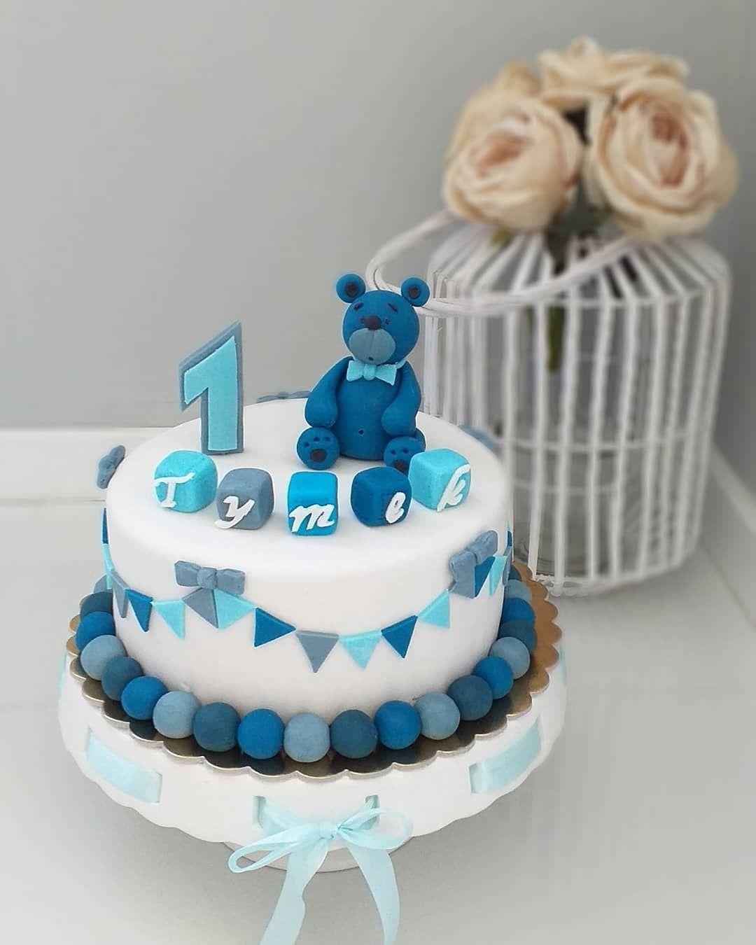 Tort Roczek Tortzmisiem Cake Cakedecor Cakestyle Cakedesign