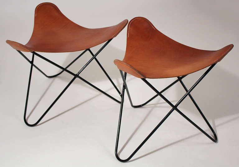 Knoll Butterfly Chair Ottoman Or Stool Pair 3