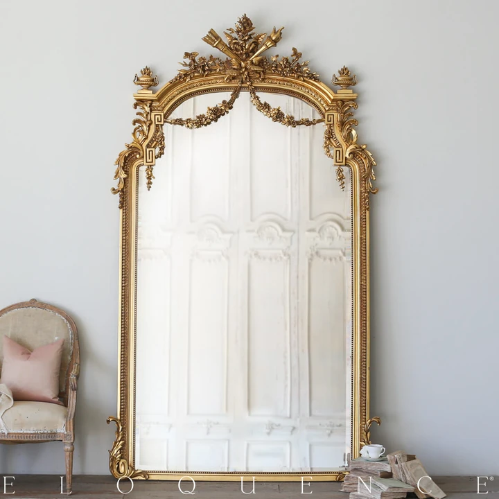 Striking Bright Gilt Antique Belgian Mirror With Some Weathering Original Beveled Mirror With A In 2020 Antique Gold Mirror Gold Mirror Living Room Gold Framed Mirror