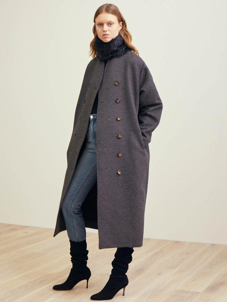226141c8a6fc Bergerac wool coat grey melange   my style   Wool coat, Coat, Fashion
