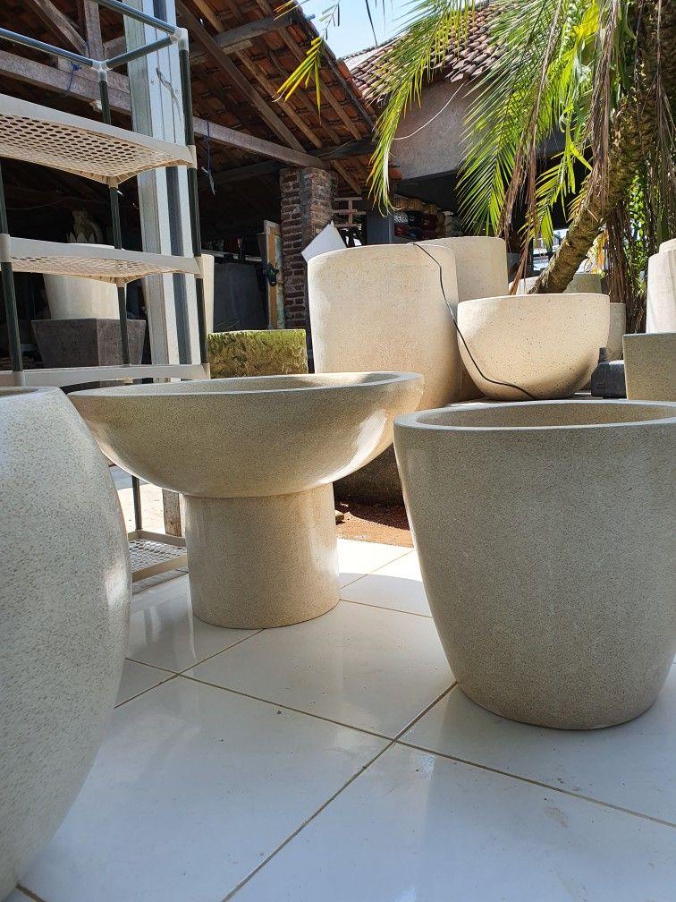 Pot Teratai Terrazzo Tanaman Air Tanaman