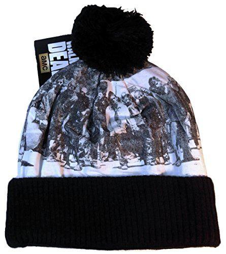 Walking Dead ZOMBIES Knitted Cuffed Pom-Pom Beanie HAT @ niftywarehouse.com #NiftyWarehouse #Geek #Horror #Scary #Halloween