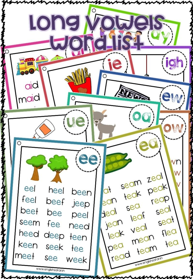 small resolution of FREE** long vowel words list www.worksheetsenglish.com   Vowel sounds  activities