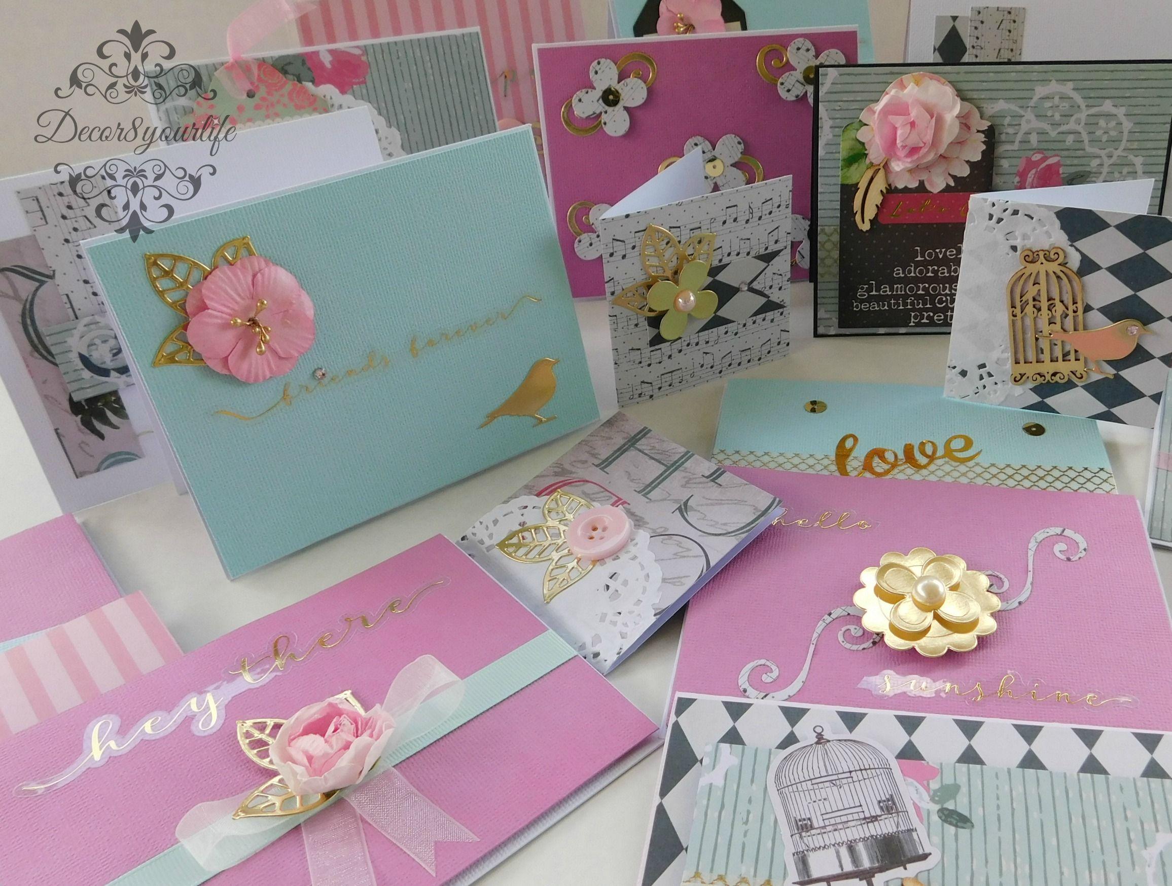 handmade cards using spellbinders card kit of the month get