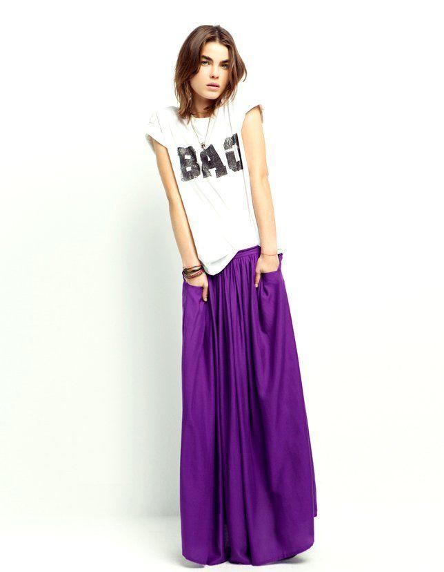 low priced 43fa3 9a2c0 Gonne lunghe Zara: love it il ma quest'anno sono midi ...