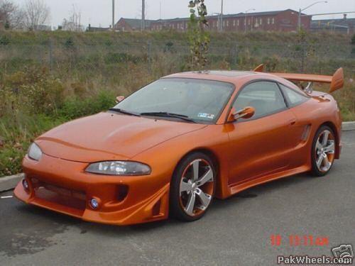 Orange Mitsubishi Eclipse 14368 Mitsubishi Eclipse Mitsubishi Eclipse