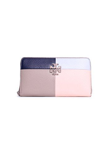 f41fd280e0cb Tory Burch Thea Patchwork Continental Wallet in French Gray Multi ...