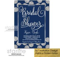 A glittery navy blue bridal shower invitation navy and silver a glittery navy blue bridal shower invitation navy and silver bridal shower invitation http filmwisefo Images