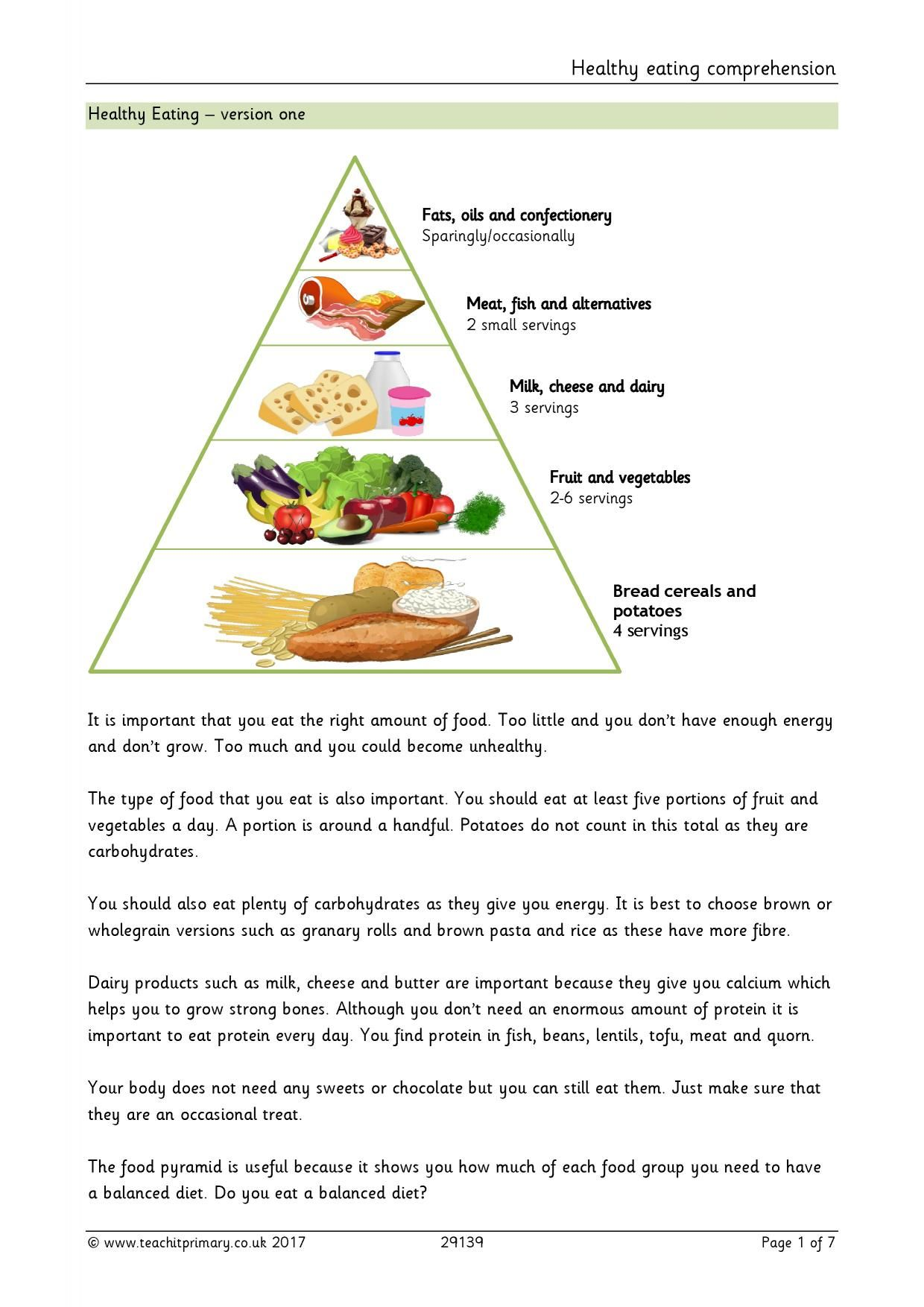 Healthy Eating Comprehension In