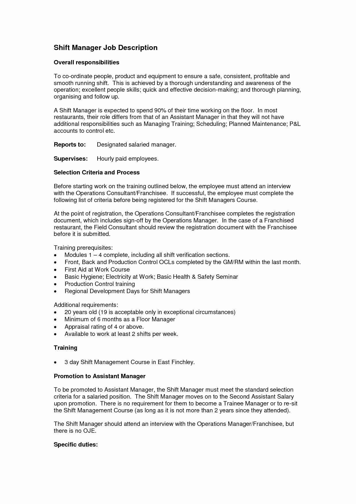 Nanny Job Description for Resume Fresh Maintenance Job