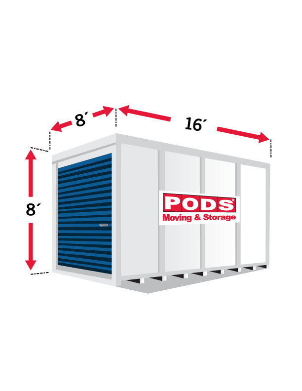 Pods Moving And Storage >> 16 Foot Pods Container Diagram Moving Storage Containers
