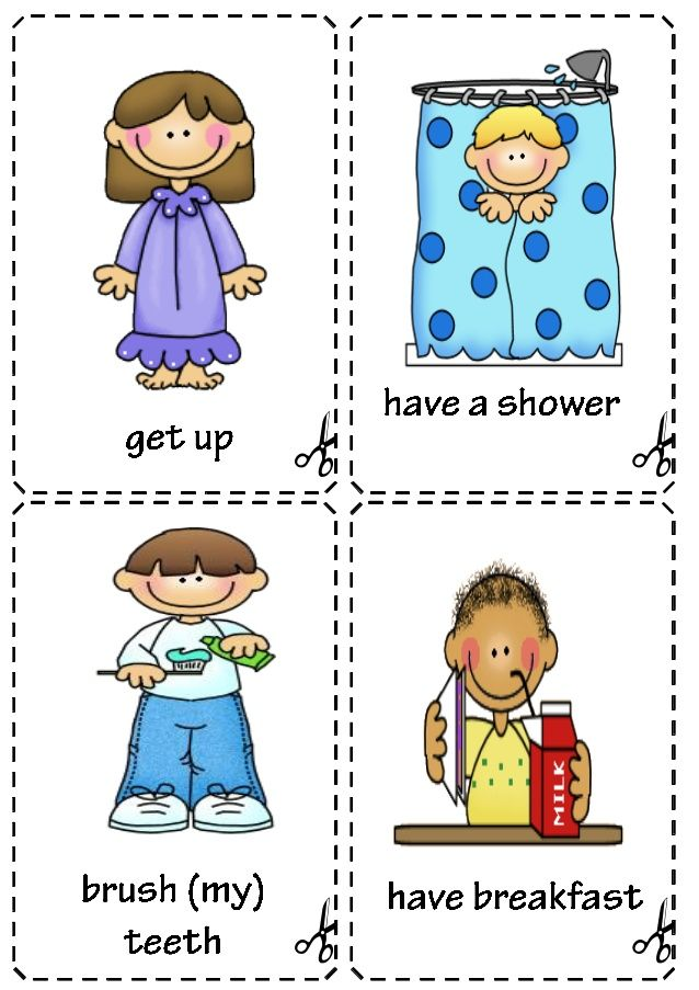 Daily routine flashcards | Early Childhood | Pinterest