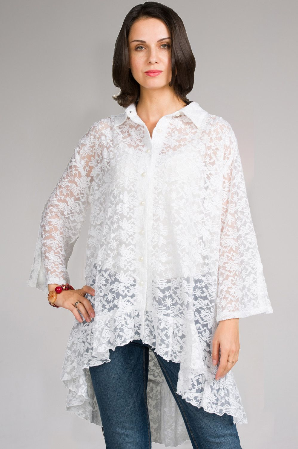High-Low Bell Sleeves Shirt