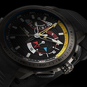 Amazon.com  Timex Men s TW2P44500DH Intelligent Quartz Yacht Racer Watch  With Yellow Silicone Band  Timex  Watches f1c6605dee63