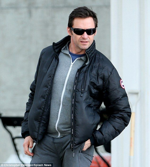 Hugh Jackman in the Lodge Down Jacket from Canada Goose. Warm and  windproof, perfect