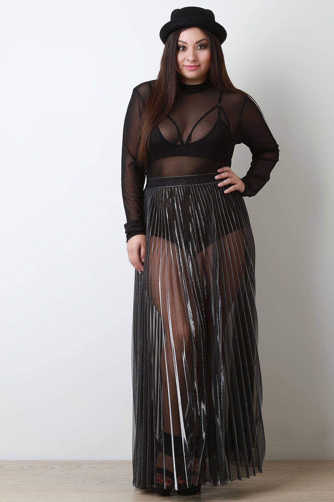 Pin by tamara santana on moda pinterest sheer maxi skirt and