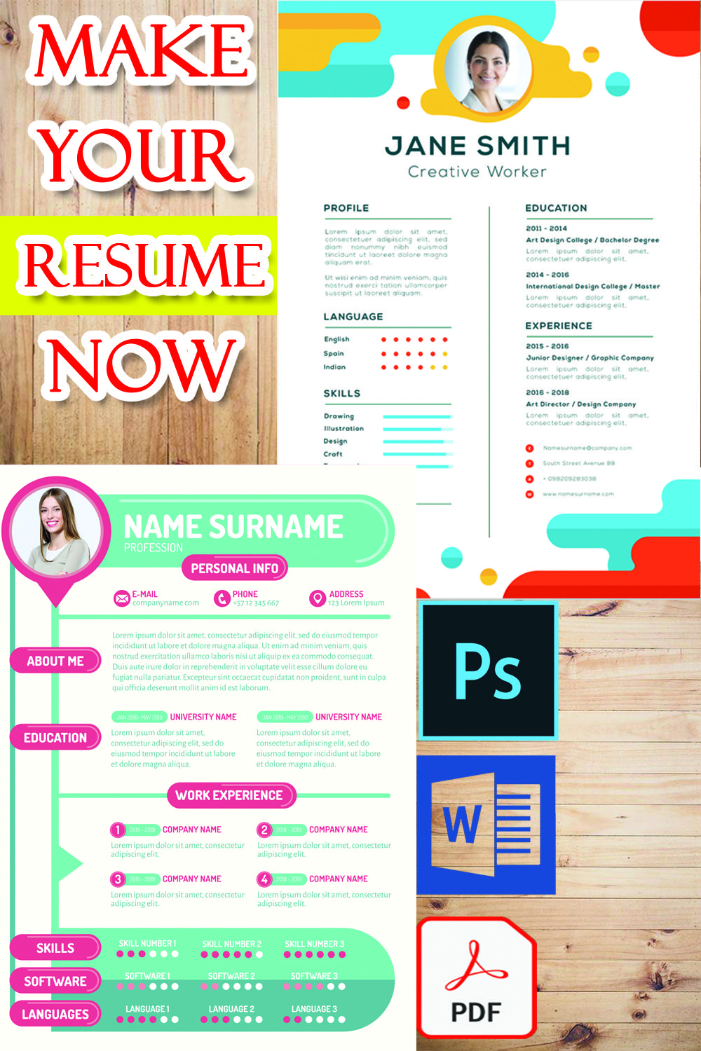 now you can now apply for a job and making your resume i
