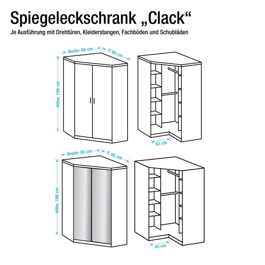 eckschrank julan mit spiegel wohnung effizient nutzen pinterest eckschrank spiegel und. Black Bedroom Furniture Sets. Home Design Ideas