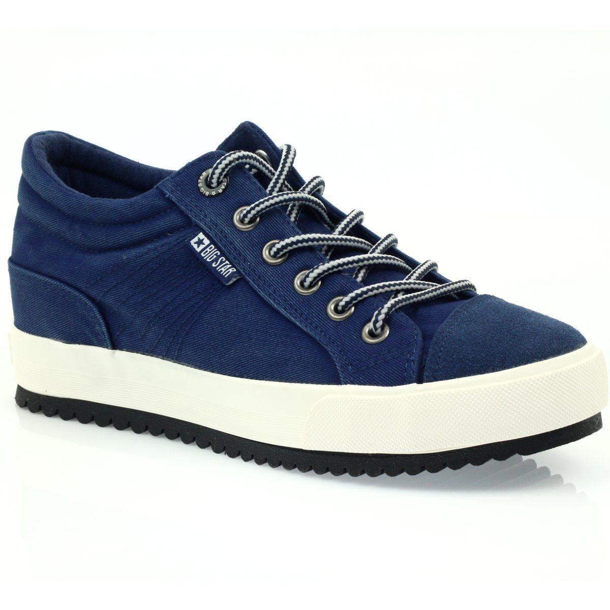 Trampki Na Koturnie Big Star 274502 Granatowe Star Sneakers Star Shoes Elegant Shoes