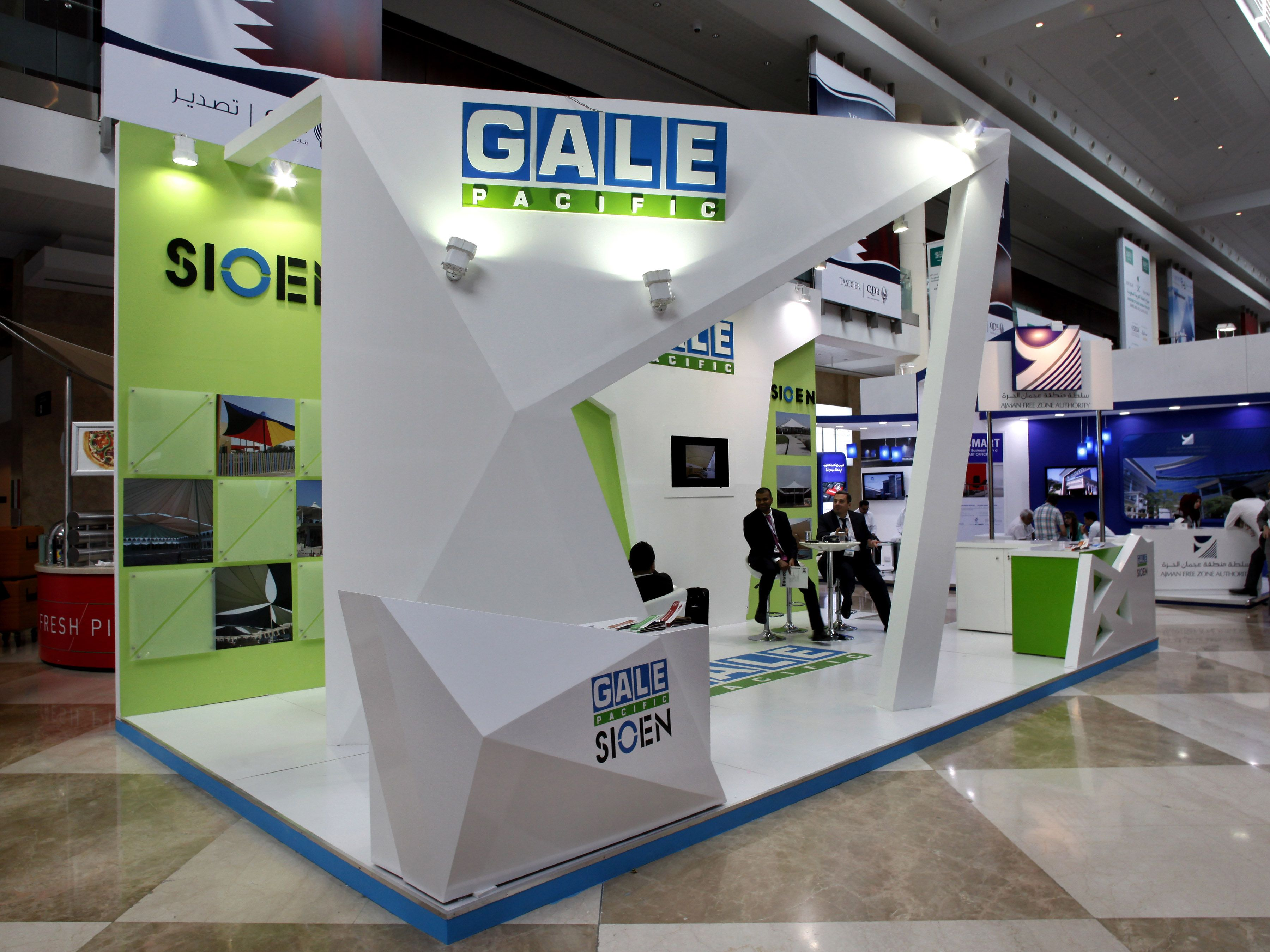 Portable Exhibition Stands In Dubai : Gale pacific exhibition stand designed and produced by