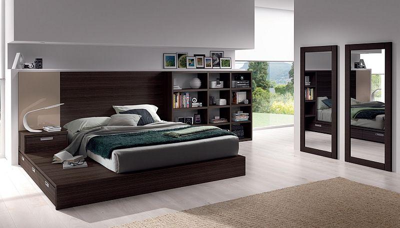 tatami con cajones, librerías, organización en el dormitorio de ...
